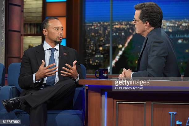 The Late Show with Tiger Woods during Thursday's 10/20/16 taping in New York.