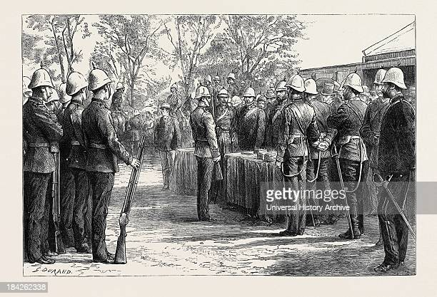 Distribution Of Medals To The Fifty-Eighth Regiment And The Natal Troops At Maritzburg By Sir Evelyn Wood