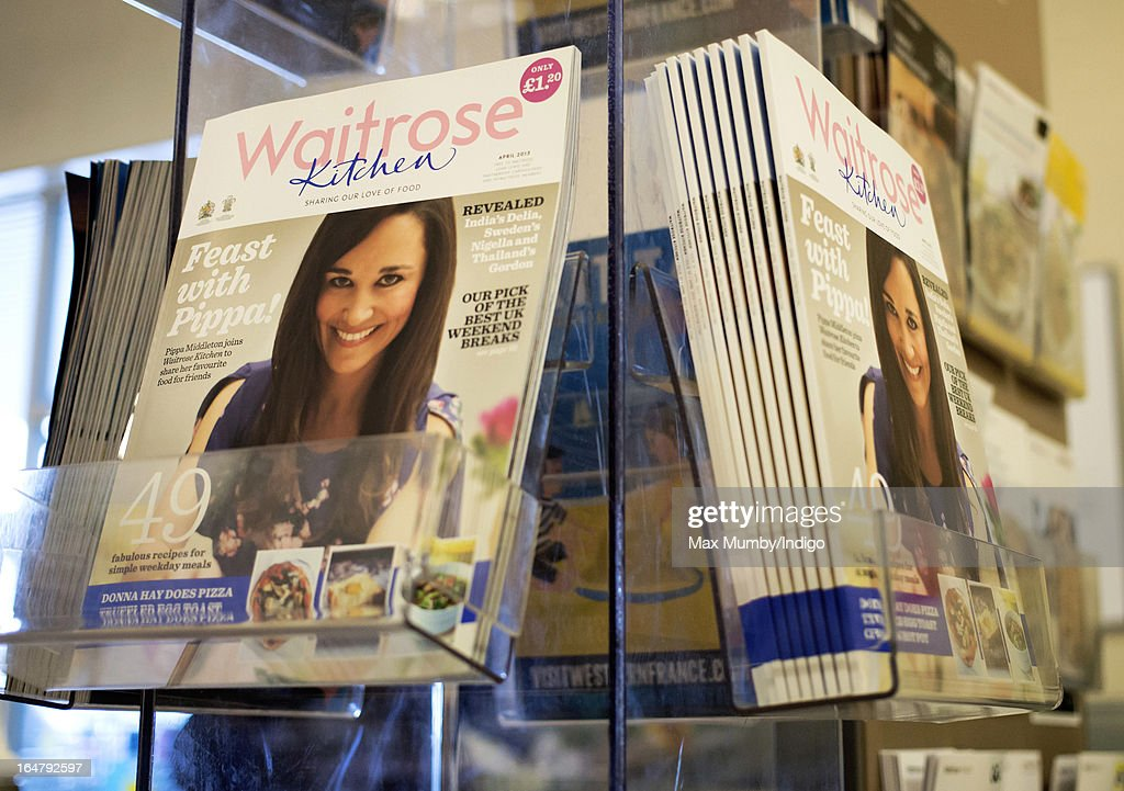 The latest edition of Waitrose Kitchen Magazine, featuring Pippa Middleton on the cover, seen by the tills in a Waitrose store on March 28, 2013 in Horley, England. Pippa Middleton, sister of Catherine, Duchess of Cambridge is writing a monthly column for the magazine featuring casual dining ideas and recipes.