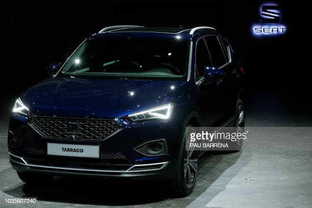 The latest model of Spanish automobile manufacturer Seat SEAT Tarraco is unveiled during its international presentation in Tarragona on September 18...