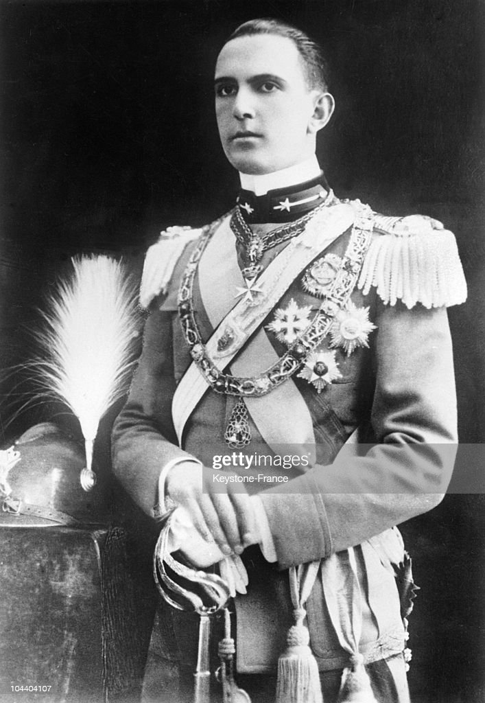 The latest portrait of Crown Prince UMBERTO of Italy who will soon marry Princess MARIE-JOSE of Belgium. He is in uniform as colonel of his regiment.