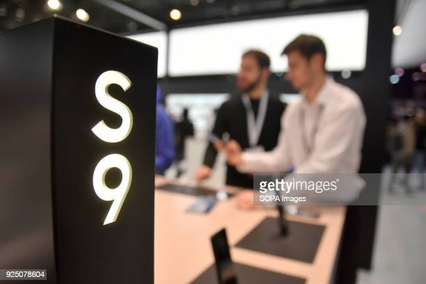 The latest Samsung S9 mobile phone being exhibited at the Mobile World Congress The Mobile World Congress 2018 is being hosted in Barcelona from 26...