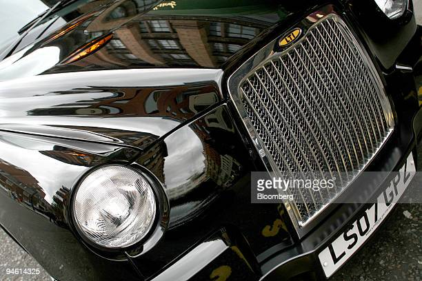 The latest specification London Taxi sits waiting for a fare in Knightsbridge Central London UK on Thursday Sept 27 2007 The Knowledge as the...