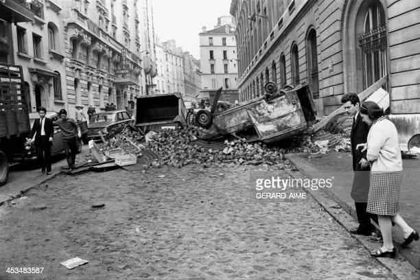 The Latin Quarter during the May 1968 Events in Paris France in May 1968