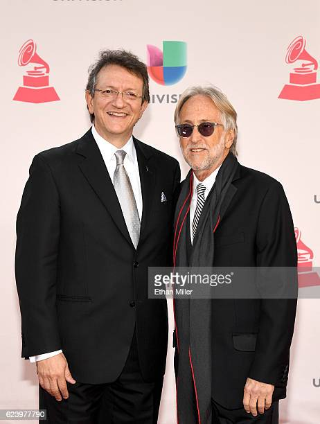 The Latin Recording Academy president Gabriel Abaroa and The Recording Academy and GRAMMY Foundation's president and CEO Neil Portnow attend The 17th...