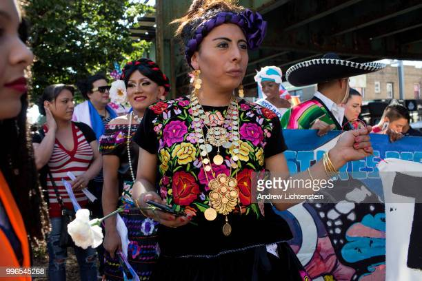 The latinx transgender community marches through a heavily immigrant neighborhood to fight against discrimination and bring awareness to their...
