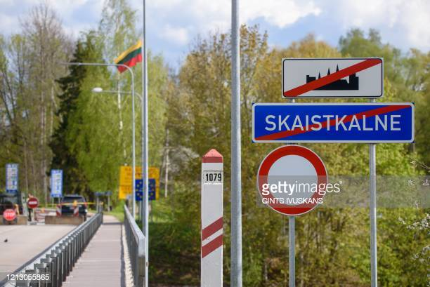 The LatviaLithuania border crossing seen from Skaistkalne Latvia on May 14 ahead of border reopening After two months of coronavirusrelated...