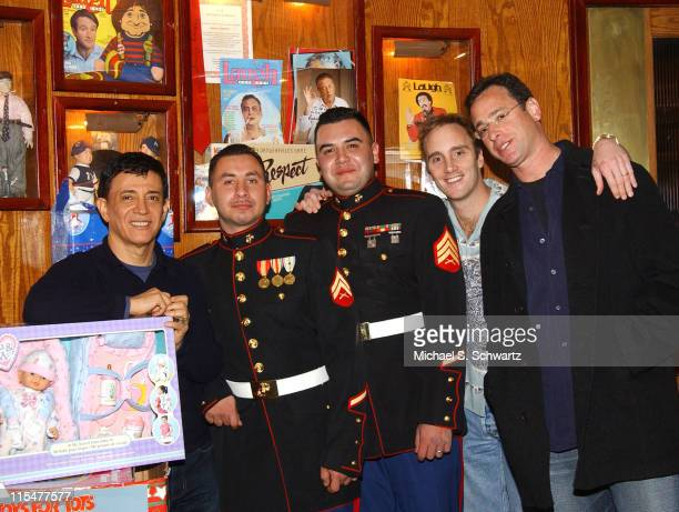 The Laugh Factory Owner Jamie Masada Corporal Anthony Sotelo Sargent Mario Javrequi Jay Mohr and Bob Saget