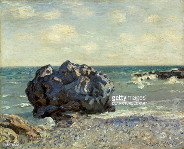 The Laugland Bay rock by Alfred Sisley 65x81 cm Bern Kunstmuseum
