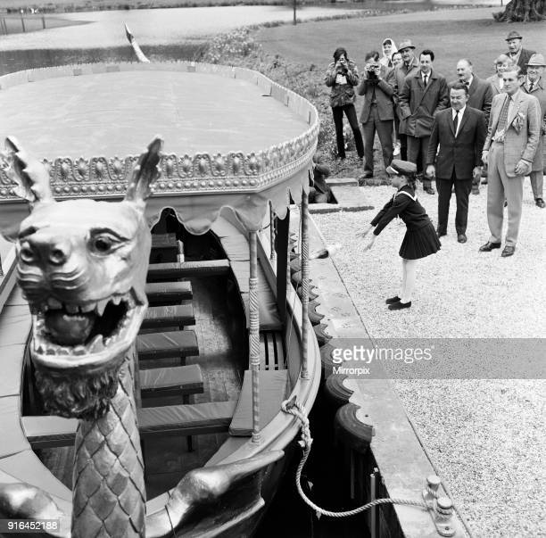 The Launch of a new boat at Longleat Wiltshire 22nd March 1967