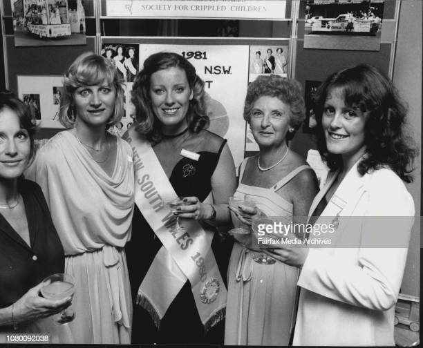 The launching of the Mrs NSW Quest at the headquarters of the NSW Society for Crippled Children in Chalmers St last night Mrs Jenny Chubb an entrant...