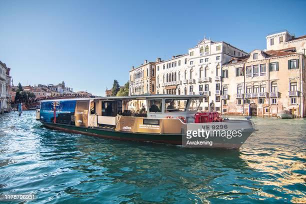 The Lavazza Vaporetto Qualità Oro on October 03, 2019 in Venice, Italy.