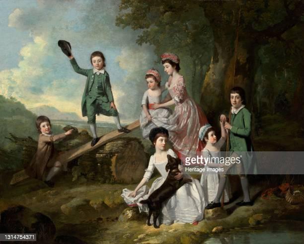 The Lavie Children, c. 1770. Artist Johan Zoffany.