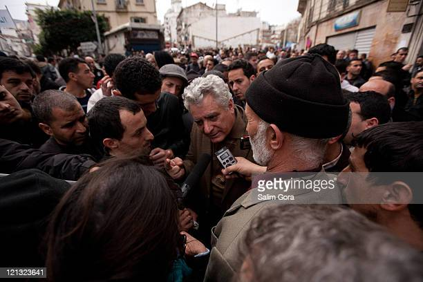 The Lawyer and the President of the LADDH Mustapha Bouchachi, Interviewed by Journalists during the 2nd Demonstration in Algiers about the political...
