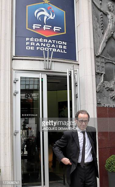 The lawyer of the French L1 football club Paris SaintGermain Francois Klein leaves the headquarters of the French Football Federation on July 3 2013...