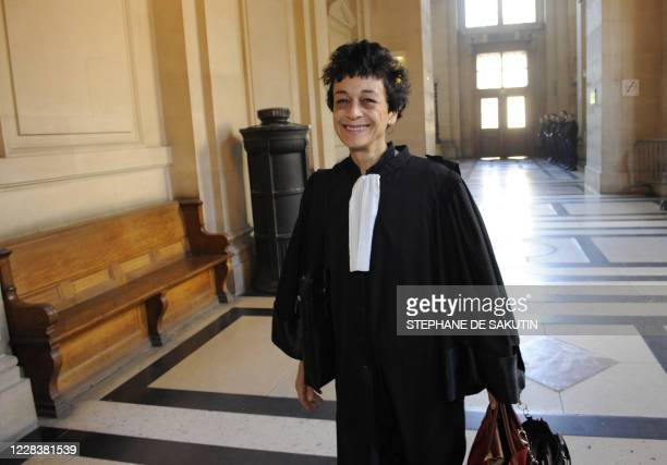 The lawyer of Youssouf Fofana Isabelle CoutantPeyre arrives at Paris' courthouse on April 30 before an audience on the second day of the trial of...