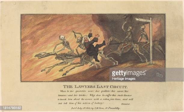 The Lawyers Last Circuit, published 1802. Artist Thomas Rowlandson.