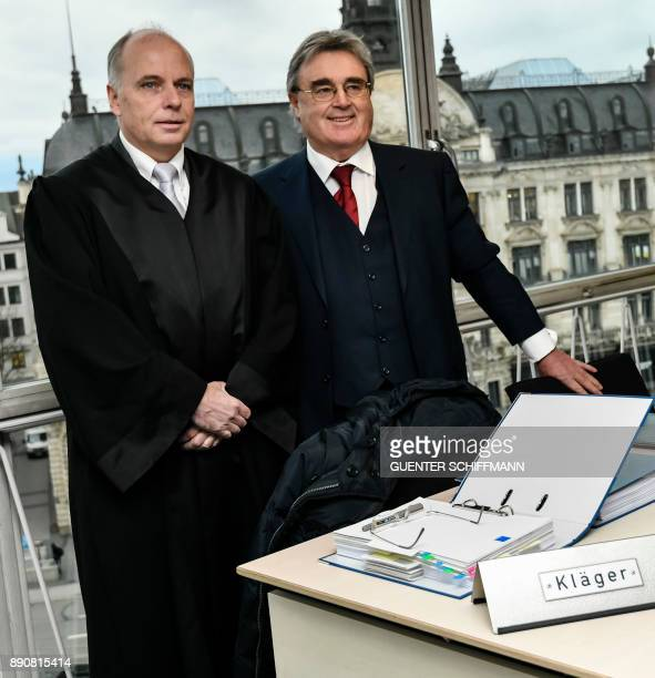 The lawyers of former agent Bruno Heiderscheid Christof Siefarth and Franz Szolansky arrive at court for a case filed by the former agent of Bayern...