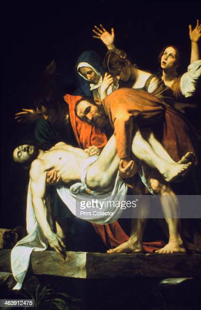 'The Laying in the Tomb' 16021604 Mary of Clopas with her arms raised Mary Magdalene with bowed head Nicodemus grasps the legs of the dead Christ...