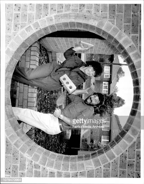 The Lazy gardener Don Burke and Sons and Daughters star Leila Hayes at the Australbrick plant in Epping today. May 08, 1987. .