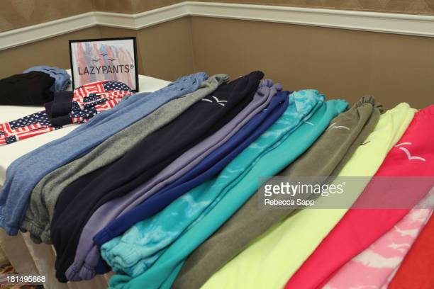 The Lazy Pants on display at the HBO Luxury Lounge featuring Motorola and PANDORA Jewelry in honor of The 65th Primetime Emmy Awards at The Four...