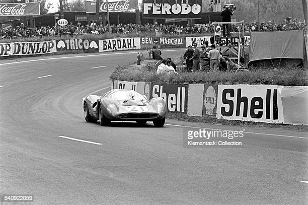 The Le Mans 24 Hours Le Mans June 1011 1967 The Ferrari 330P4 of Ludovico Scarfiotti/Mike Parkes in the Esses They finshed second