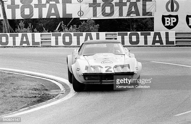 The Le Mans 24 Hours Le Mans June 1314 1970 The Chevrolet Corvette of Henri Greder and JeanPierre Rouget at Mulsanne They were unclassified at the...