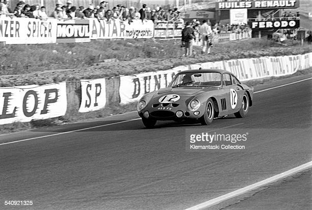 The Le Mans 24 Hours Le Mans June 1516 1963 The Ferrari 330LMB with right hand drive for Maranello Concessionaires driven by Jack Sears and Mike...
