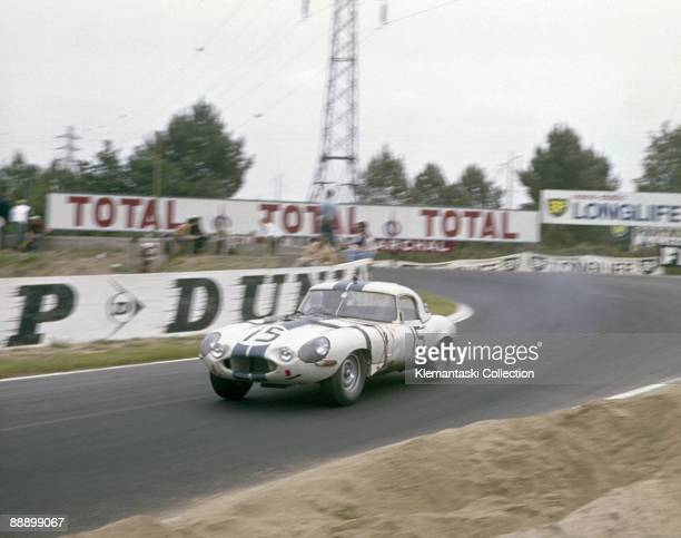 The Le Mans 24 Hours Le Mans June 1516 1963 The Jaguar lightweight Etype of Briggs Cunningham and Bob Grossman which finished in ninth place leave...