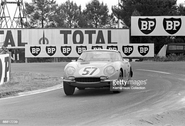The Le Mans 24 Hours Le Mans June 1819 1966 The Ferrari 275GTB/C of Pierre Noblet and Claude Dubois at Mulsanne They would finish tenth