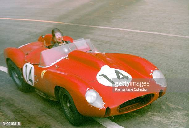 The Le Mans 24 Hours Le Mans June 2122 1958 Phil Hill with the winning Ferrari 250TR in the Esses Hill shared the win with Olivier Gendebien