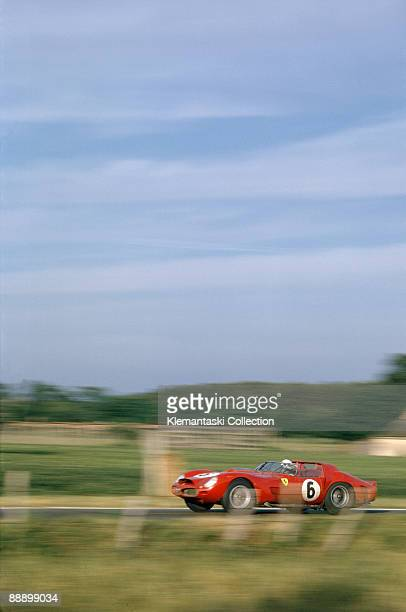 The Le Mans 24 Hours Le Mans June 2324 1962 The winning Ferrari 330TR/LM driven by Olivier Gendebien and Phil Hill on its way to give Ferrari another...