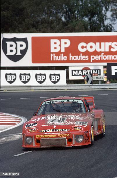 The Le Mans 24 Hours Le Mans June 910 1979 The second place Porsche 935 driven by Rolf Stommelen Dick Barbour and Paul Newman