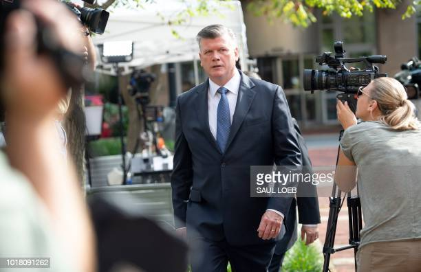 The lead defense attorney for former Trump campaign manager Paul Manafort Kevin Downing arrives for the second day of jury deliberations in the bank...