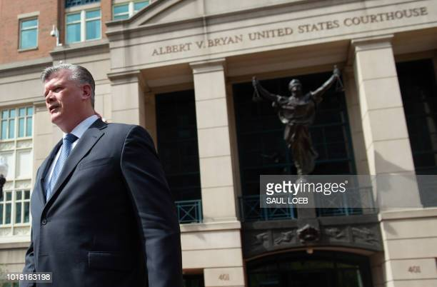 The lead defense attorney for former Trump campaign manager Paul Manafort Kevin Downing leaves the Albert V Bryan US Courthouse in Alexandria...