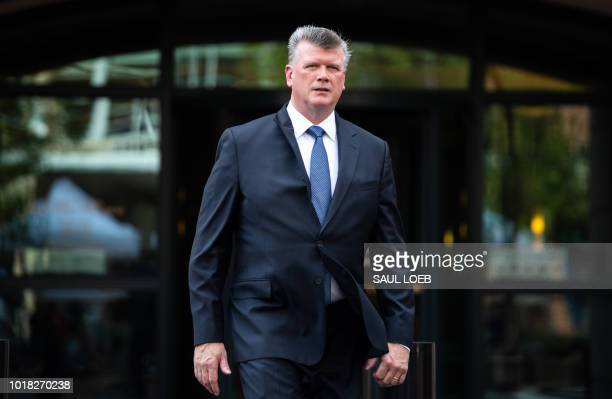 The lead defense attorney for former Trump campaign manager Paul Manafort Kevin Downing walks from the Albert V Bryan US Courthouse in Alexandria...