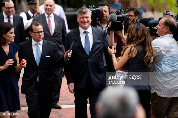 The lead defense attorney for former Trump campaign manager Paul Manafort Kevin Downing walks to the Albert V Bryan US Courthouse in Alexandria...