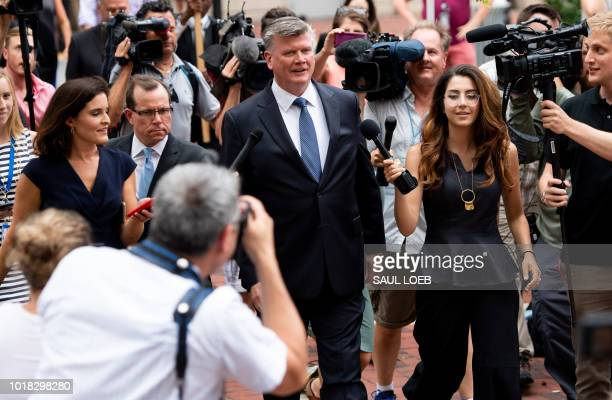 TOPSHOT The lead defense attorney for former Trump campaign manager Paul Manafort Kevin Downing walks to the Albert V Bryan US Courthouse in...