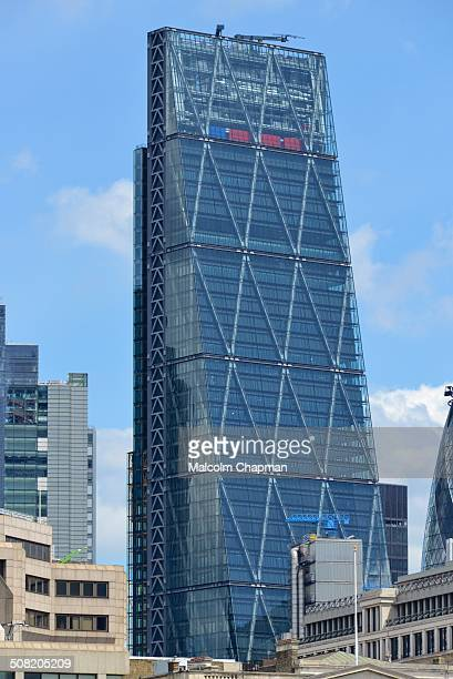 The Leadenhall Building, nears completion. This Roger Stirk Harbour + Partners designed building also known as the Cheesegrater at 122 Leadenhall...