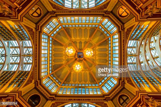 the leadenhall market in london - leadenhall market stock pictures, royalty-free photos & images