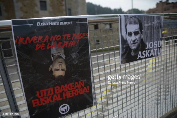 The leader of Ciudadanos Albert Rivera participates in a tribute to the victims of terrorism organized in the village of Josu Ternera the terrorist...