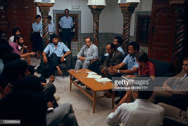 The leader of the Black Panther Eldridge Cleaver in Algiers Algeria in 1970