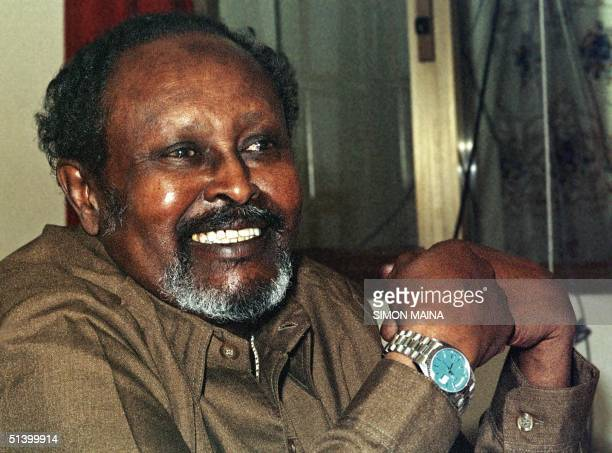 The leader of the breakaway Republic of Somaliland Mohamed Ibrahim Egal speaks to journalists 28 July 1999 in the breakaway republic's capital city...