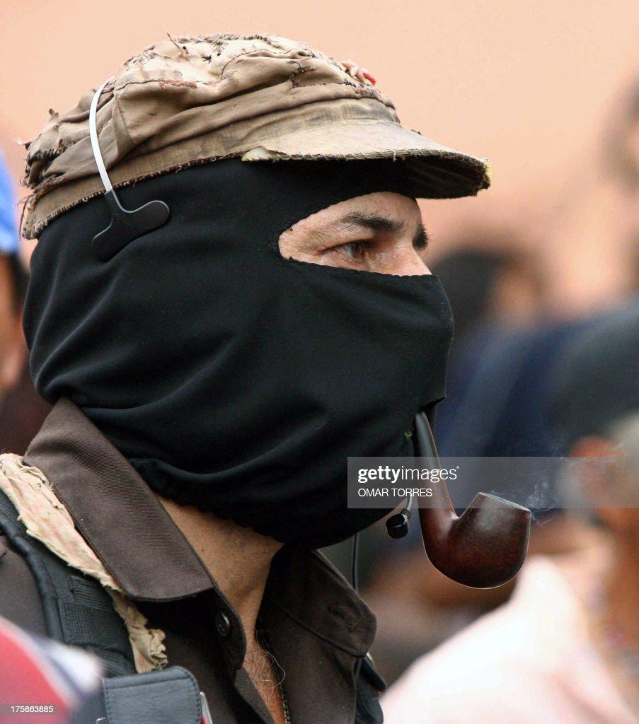 MEXICO-EZLN-SUBCOMANDANTE MARCOS-DEMO : News Photo