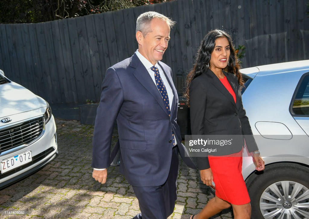 Bill Shorten Speaks To Media As 2019 Election Campaign Begins : News Photo