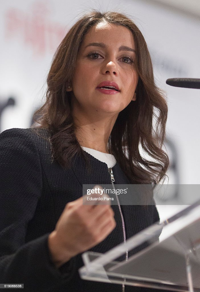 Ines Arrimadas Attend 'Desayunos Con Europa Press'