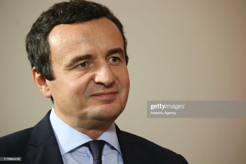 Leader of Vetevendosje Party Albin Kurti : ニュース写真