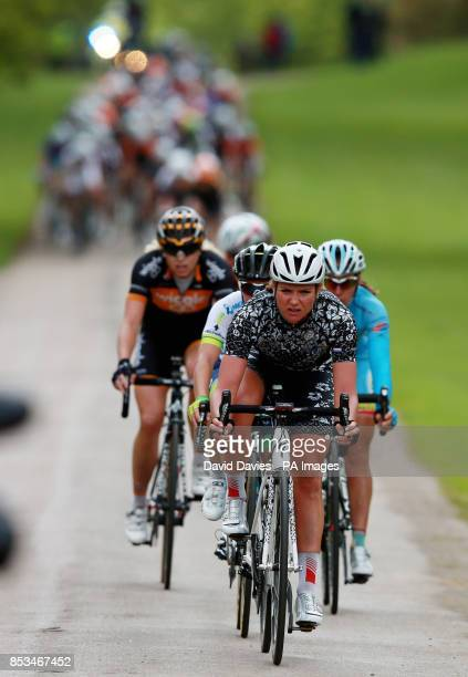 The leaders leave Althorp House estate during Stage One of the 2014 Women's Tour Of Britain in Northamptonshire
