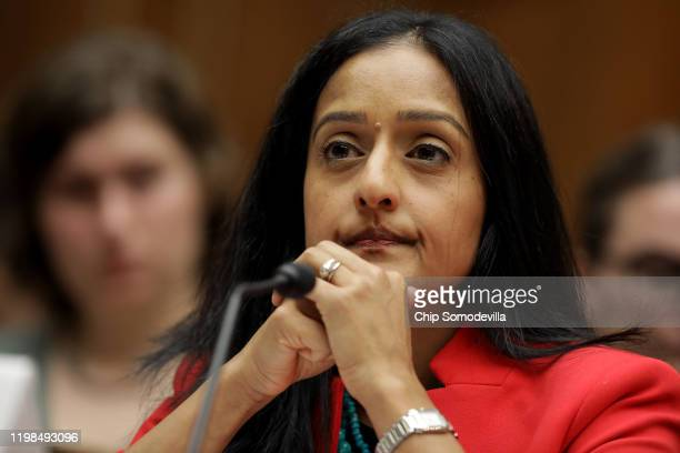 The Leadership Conference on Civil & Human Rights President and CEO Vanita Gupta testifies before the House Oversight and Reform Committee about the...