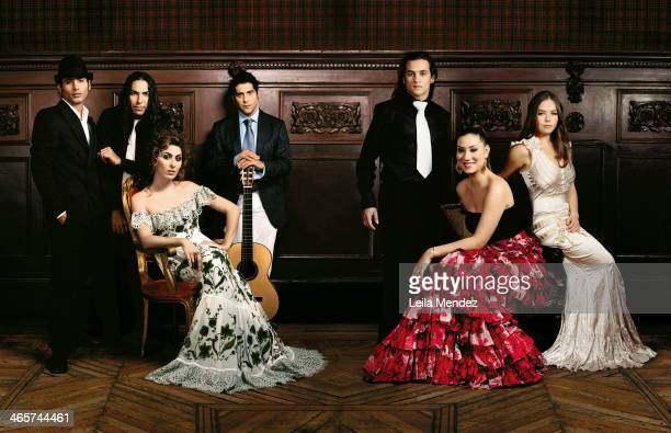The leading stars of Flamenco are pgotographed for El Pais in Madrid, Spain. From left to right: Pitingo, Diego Amador, Estrella Morente, Nino...